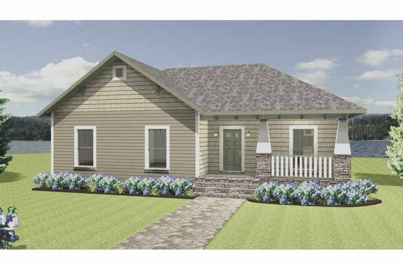 Craftsman Exterior - Front Elevation Plan #44-217 - Houseplans.com