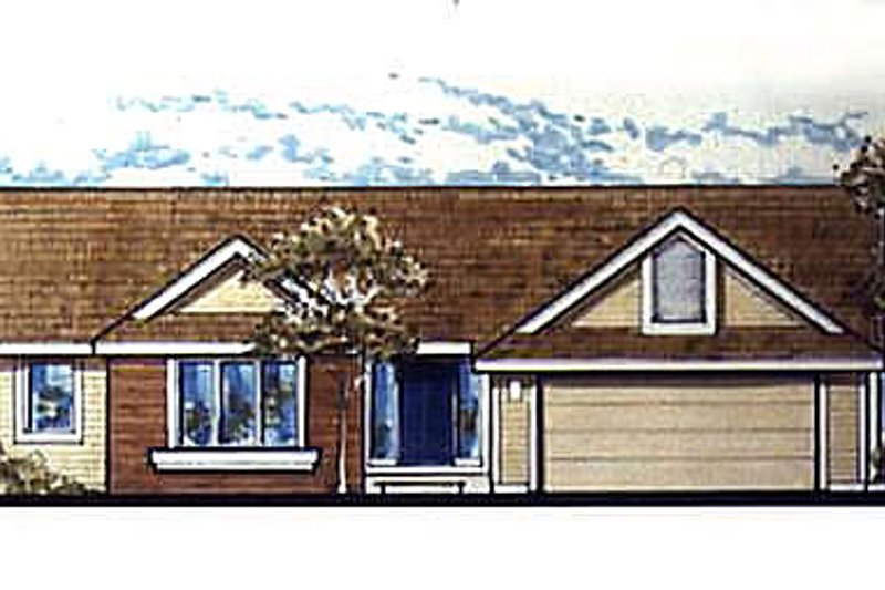 Ranch Exterior - Other Elevation Plan #320-470 - Houseplans.com