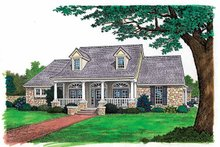Colonial Exterior - Front Elevation Plan #310-1116