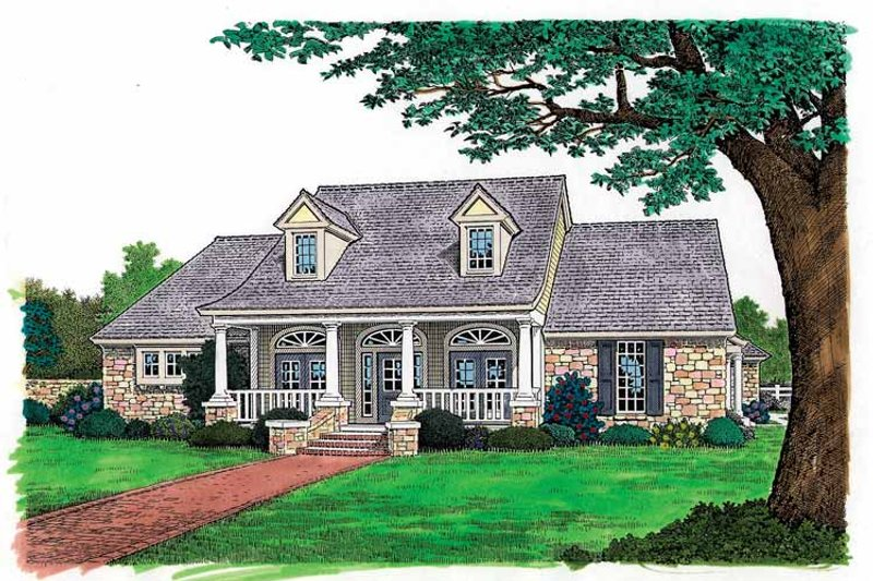 House Plan Design - Colonial Exterior - Front Elevation Plan #310-1116