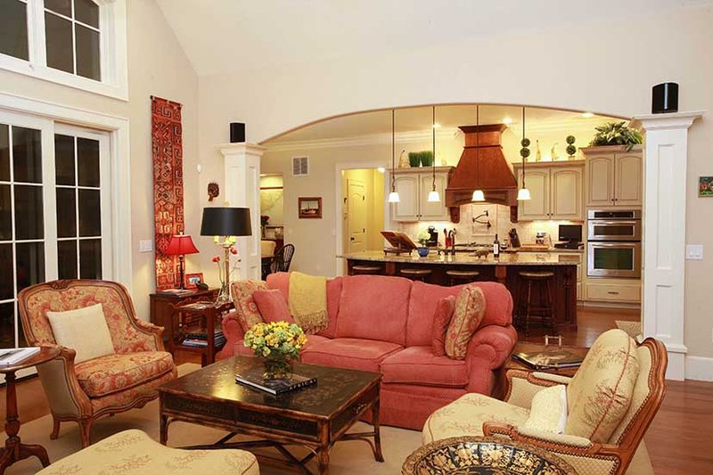 Country Interior - Family Room Plan #927-409 - Houseplans.com