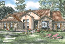 Adobe / Southwestern Exterior - Front Elevation Plan #17-2918