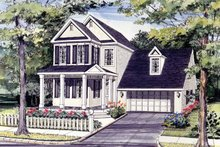 Architectural House Design - Country Exterior - Front Elevation Plan #314-183