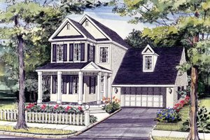 Country Exterior - Front Elevation Plan #314-183