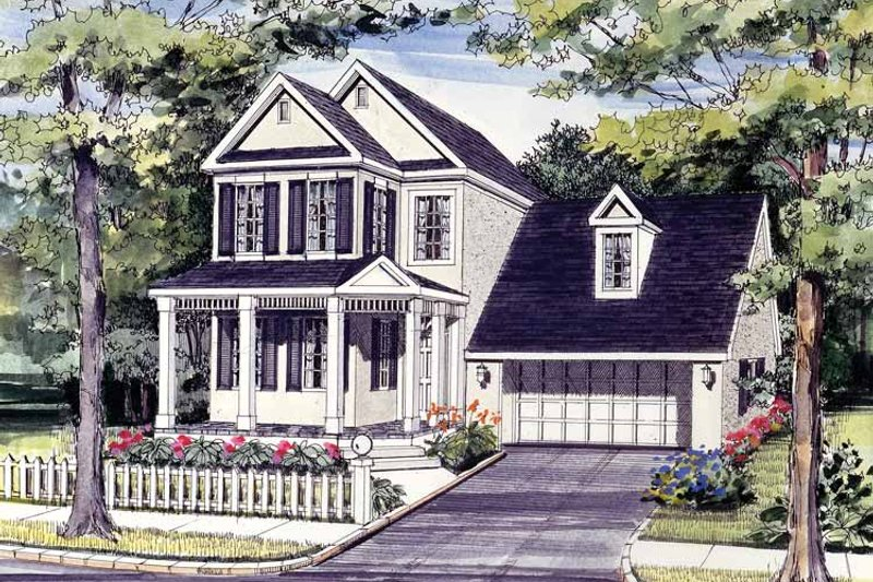Home Plan - Country Exterior - Front Elevation Plan #314-183