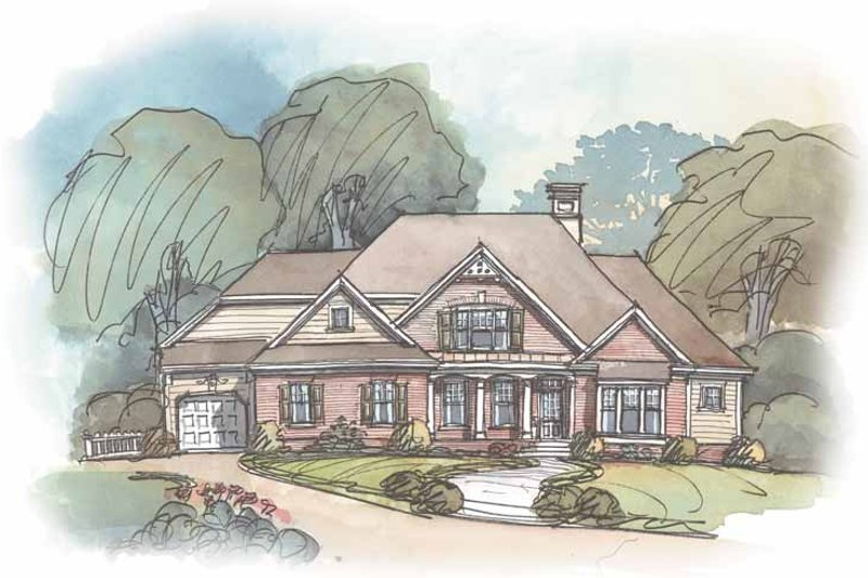 Country Exterior - Front Elevation Plan #429-271