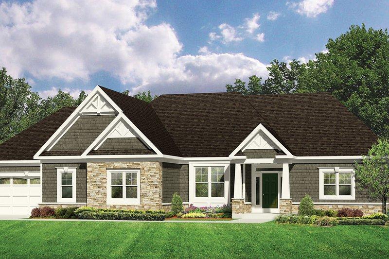 Dream House Plan - Craftsman Exterior - Front Elevation Plan #1010-111