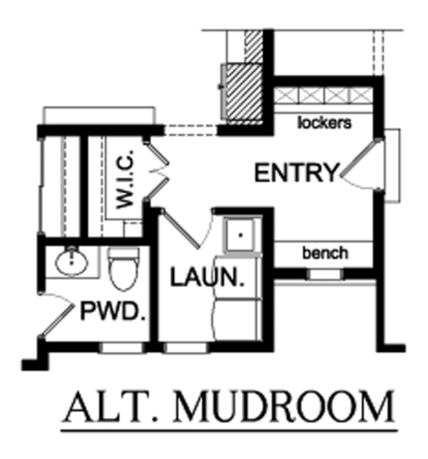 Country Floor Plan - Main Floor Plan Plan #1010-89