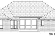 Traditional Style House Plan - 5 Beds 3 Baths 2822 Sq/Ft Plan #84-596 Exterior - Rear Elevation