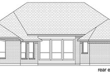 Home Plan - Traditional Exterior - Rear Elevation Plan #84-596