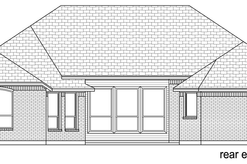 Traditional Exterior - Rear Elevation Plan #84-596 - Houseplans.com