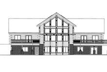 Home Plan - Log Exterior - Rear Elevation Plan #117-823