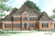 Traditional Style House Plan - 5 Beds 5 Baths 4004 Sq/Ft Plan #1054-3 Exterior - Front Elevation