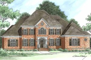 Dream House Plan - Traditional Exterior - Front Elevation Plan #1054-3