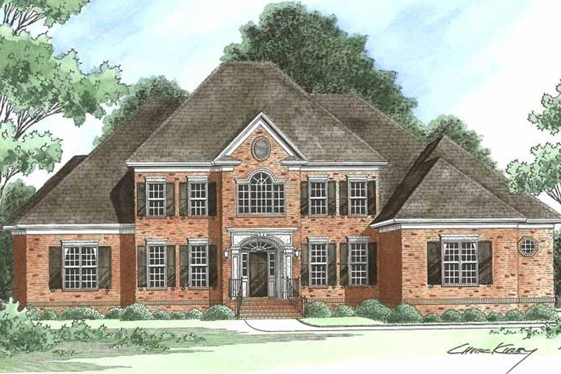Architectural House Design - Traditional Exterior - Front Elevation Plan #1054-3