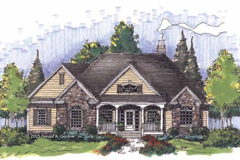 Country Exterior - Front Elevation Plan #929-818