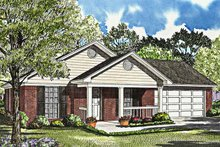 Ranch Exterior - Front Elevation Plan #17-3019