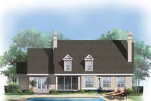 Country Exterior - Rear Elevation Plan #929-414
