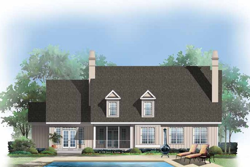 Country Exterior - Rear Elevation Plan #929-414 - Houseplans.com