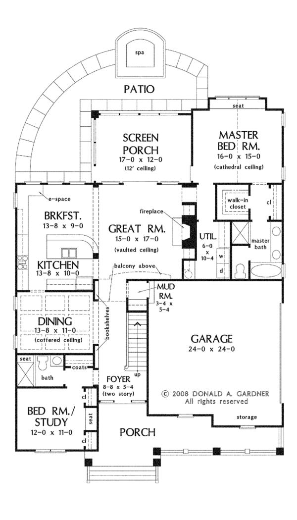 Craftsman Floor Plan - Main Floor Plan Plan #929-918