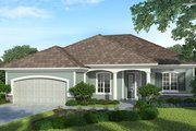Country Style House Plan - 3 Beds 2.5 Baths 1872 Sq/Ft Plan #938-32 Exterior - Front Elevation