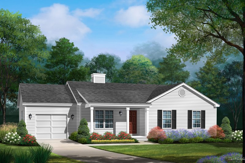 Home Plan - Traditional Exterior - Front Elevation Plan #22-619