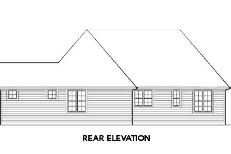 European Exterior - Rear Elevation Plan #48-282 - Houseplans.com