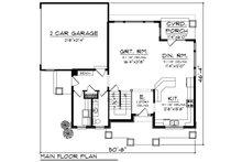 Craftsman Floor Plan - Main Floor Plan Plan #70-1218