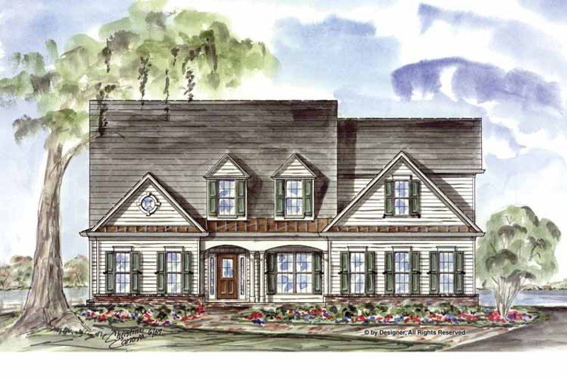 Country Exterior - Front Elevation Plan #54-335 - Houseplans.com