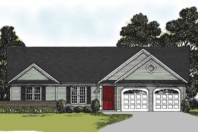 Ranch Exterior - Front Elevation Plan #56-660