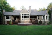 Craftsman Style House Plan - 4 Beds 3 Baths 3283 Sq/Ft Plan #929-889 Exterior - Rear Elevation