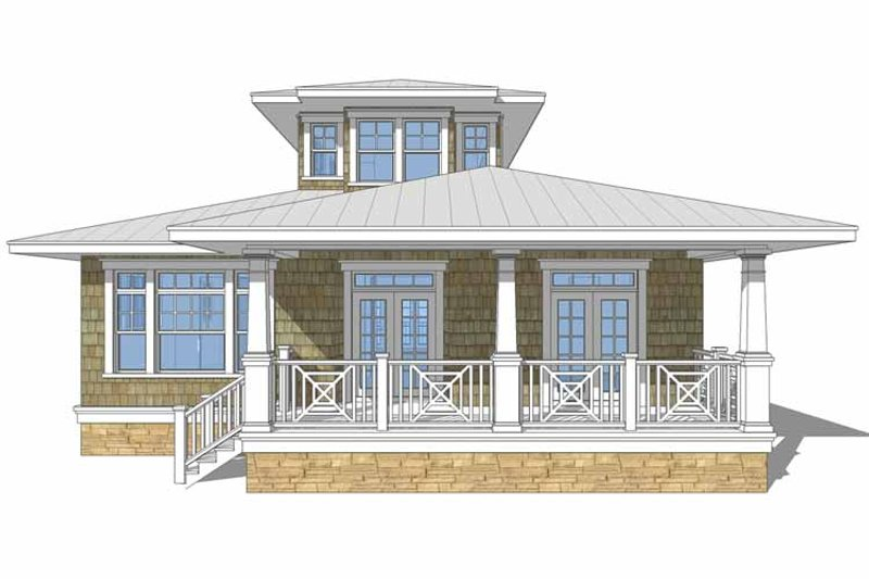 Country Exterior - Front Elevation Plan #64-306 - Houseplans.com