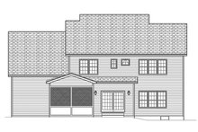 Home Plan - Traditional Exterior - Rear Elevation Plan #1010-134