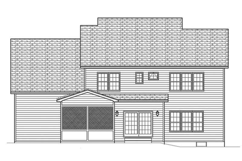 Traditional Exterior - Rear Elevation Plan #1010-134 - Houseplans.com