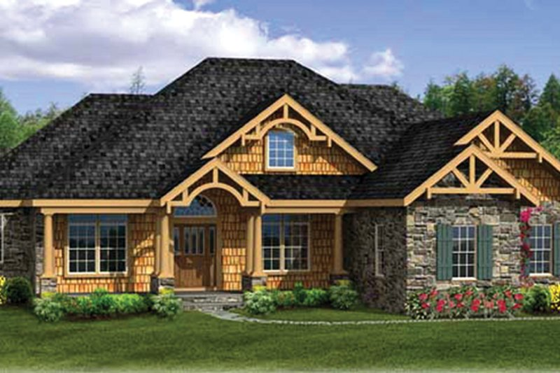 Craftsman Exterior - Front Elevation Plan #314-290