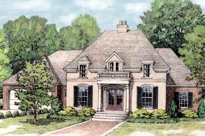 European Exterior - Front Elevation Plan #406-144 - Houseplans.com