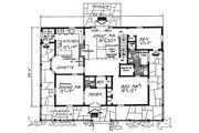 Country Style House Plan - 3 Beds 2.5 Baths 2190 Sq/Ft Plan #315-107 Floor Plan - Main Floor