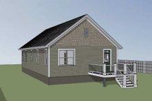 House Plan Design - Bungalow Exterior - Rear Elevation Plan #79-174