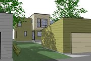 Modern Style House Plan - 3 Beds 2.5 Baths 1682 Sq/Ft Plan #909-2 Exterior - Rear Elevation