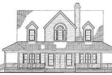 Country Exterior - Rear Elevation Plan #72-112