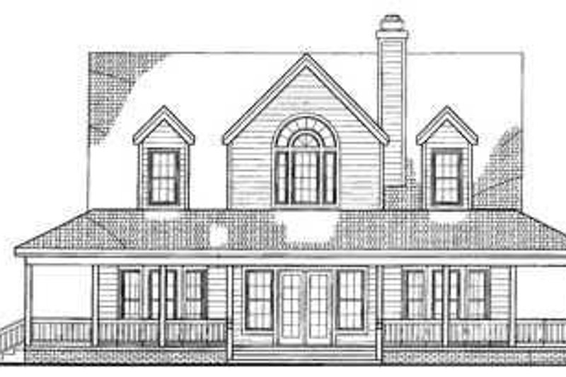Country Exterior - Rear Elevation Plan #72-112 - Houseplans.com