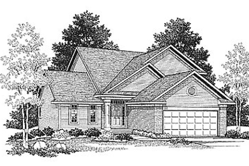 Traditional Exterior - Front Elevation Plan #70-124 - Houseplans.com
