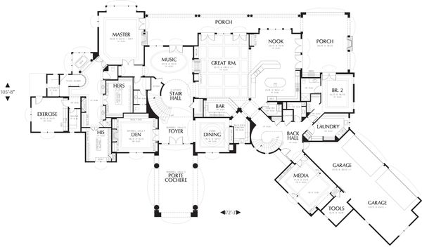 European Floor Plan - Main Floor Plan #48-624