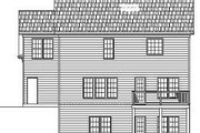 European Style House Plan - 3 Beds 2.5 Baths 1650 Sq/Ft Plan #119-279 Exterior - Rear Elevation