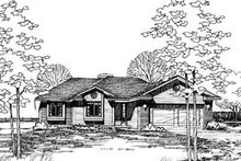 Home Plan Design - Traditional Exterior - Front Elevation Plan #20-396