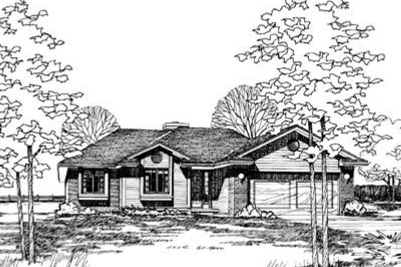Traditional Exterior - Front Elevation Plan #20-396 - Houseplans.com