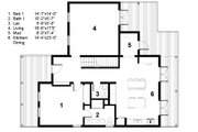 Farmhouse Style House Plan - 3 Beds 2.5 Baths 2071 Sq/Ft Plan #497-21 Floor Plan - Main Floor Plan
