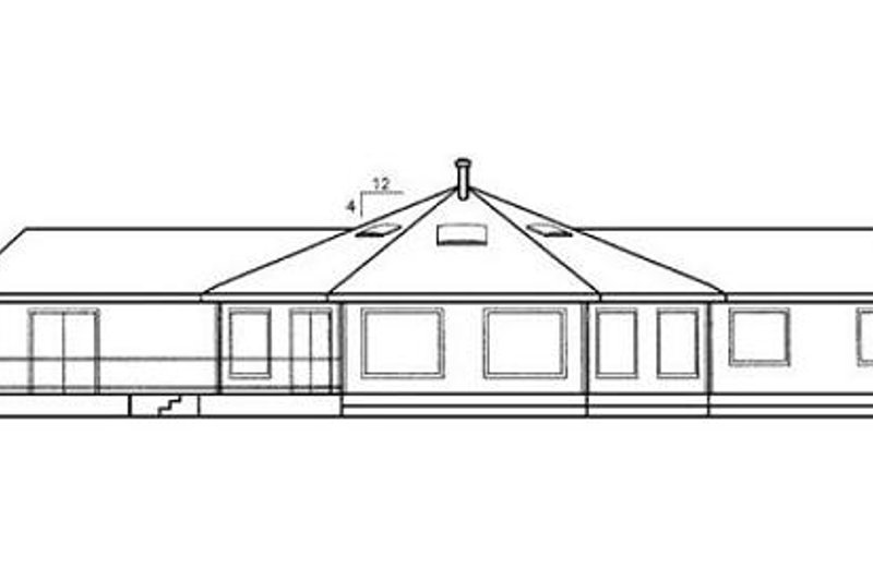 Modern Exterior - Rear Elevation Plan #60-390 - Houseplans.com