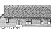 Traditional Style House Plan - 3 Beds 1 Baths 1233 Sq/Ft Plan #70-103 Exterior - Rear Elevation