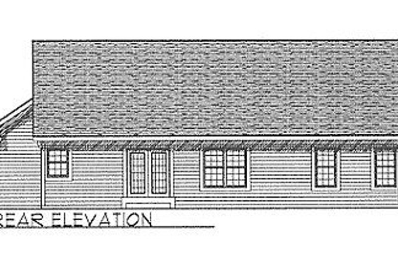 Traditional Exterior - Rear Elevation Plan #70-103 - Houseplans.com